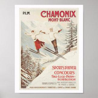 Skifahren Chamonix Frankreich Poster