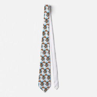 Skifahren-Elch-Feiertags-Cartoon-Krawatte Bedruckte Krawatten
