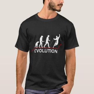Skifahren-Evolutions-T - Shirt