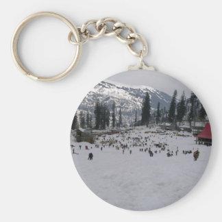 Skifahren-Feiertage Schlüsselanhänger