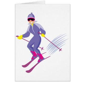 Skifahren-Gruß-Karten Karte