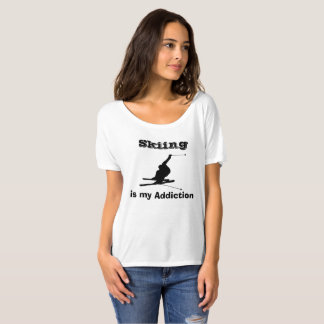 Skifahren ist meine Sucht-Silhouette-humorvollen T-Shirt