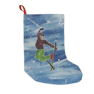 Skifahrenthema-Strumpf Kleiner Weihnachtsstrumpf