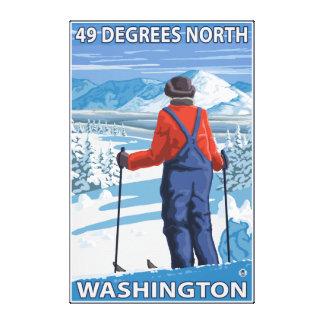 Skifahrer-Bewundern - 49 Grad Nord, Washington Leinwanddrucke