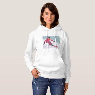 Skifahrer-Kunst Hoodie