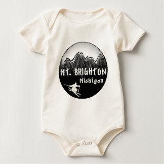 Skifahrer Mt. Brighton Michigan Baby Strampler