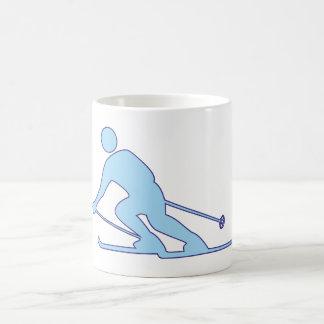 Skifahrer Schifahrer skier Kaffeetasse