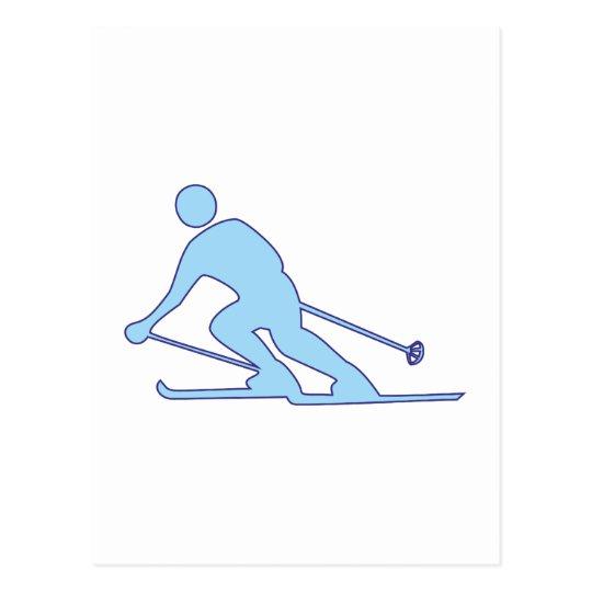 Skifahrer Schifahrer skier Postkarte