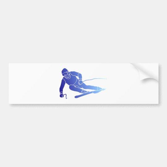Skifahrer skier autoaufkleber
