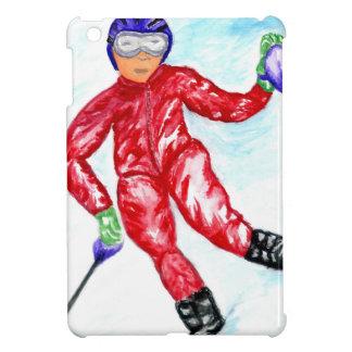 Skifahrer-Sport-Illustration iPad Mini Hülle
