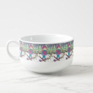 Skimädchen-Muster-Suppenschüssel Große Suppentasse
