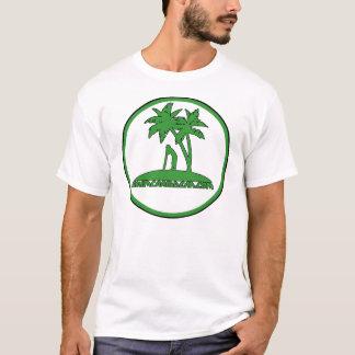 Skimcaribbean grüner Palmen-Logo-T - Shirt