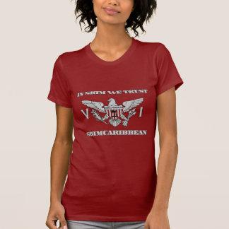 """Skimcaribbean """"im Abgeschöpften vertrauen wir"""" T-Shirt"""