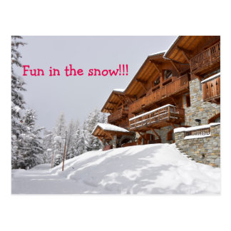 Skiortchalet-Textpostkarte Postkarte