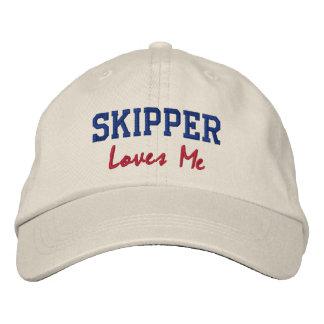 Skipper Lieben die ich Namenshut Kappe stickte Besticktes Cap