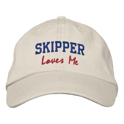Skipper Lieben, die ich Namenshut/Kappe stickte Besticktes Cap