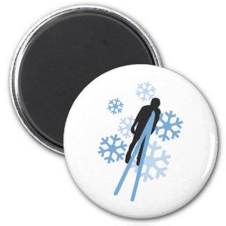 Skispringen 3c runder magnet 5,7 cm