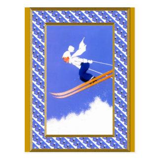 Skispringer a postkarte