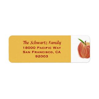 Skizze-Apple-Rücksendeadresse-Aufkleber
