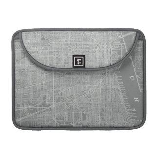 Skizze der Chicago-Stadt-Karte Sleeve Für MacBooks