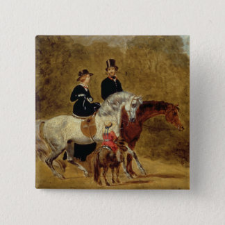 Skizze der Königin Victoria, der Prinz Gemahl u. Quadratischer Button 5,1 Cm