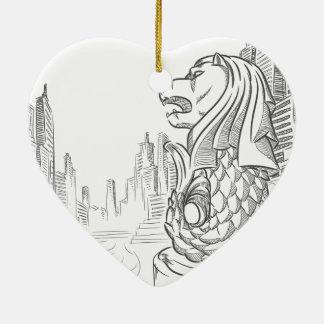 Skizze der Singapur-Tourismus-Sehenswürdigkeit - Keramik Ornament