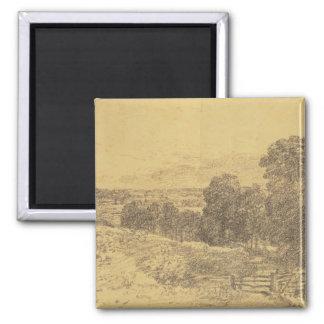 Skizze für den Malerei-Eingang zum Fenn-Weg Quadratischer Magnet