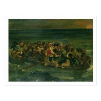 Skizze für den Schiffbruch von Don Juan, 1839 Postkarte