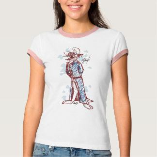 Skizze-Kunst-T-Stück mit Farbe T-Shirt