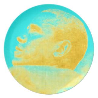 Skizze Präsidenten Barack Obama 4 Melaminteller