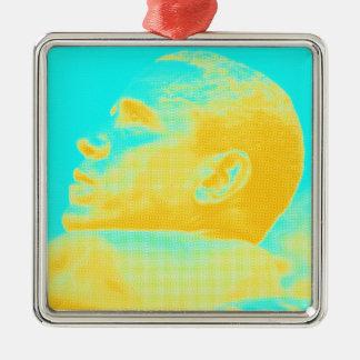 Skizze Präsidenten Barack Obama 4 Silbernes Ornament