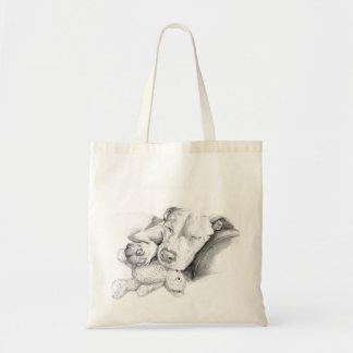 Skizze-Taschen-Tasche SchlafensPitbull Budget Stoffbeutel
