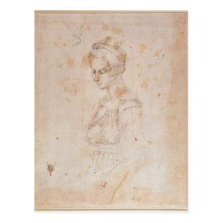 Skizze W.41 einer Frau Postkarten