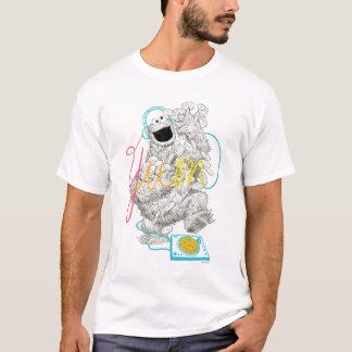 Skizze-Zeichnen des Plätzchen-Monster-B&W T-Shirt