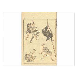 Skizzen der japanischen Kampfkünste, Ninja C. Postkarte