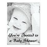 Skizzierte Babyparty-Einladung 10,8 X 14 Cm Einladungskarte