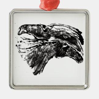 Skizzierte Pferde Silbernes Ornament