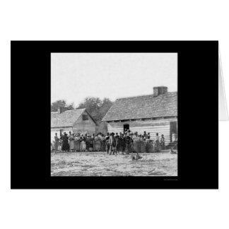 Sklaven auf der Plantage des Smiths in Beaufort, Karte