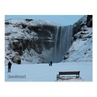Skógafoss Wasserfall, Skógá Fluss, südlich von Postkarte