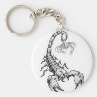 Skorpion, der gegen Krebs kämpft Standard Runder Schlüsselanhänger