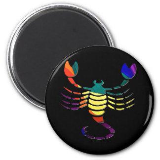 Skorpion Runder Magnet 5,1 Cm
