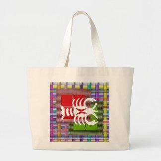 SKORPION Tierkreis-Astrologie Jyotish Symbole Jumbo Stoffbeutel