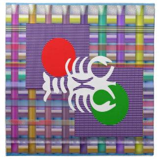 SKORPION Tierkreis-Astrologie Jyotish Symbole Stoffserviette