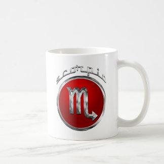 Skorpions-astrologisches Zeichen Kaffeetasse
