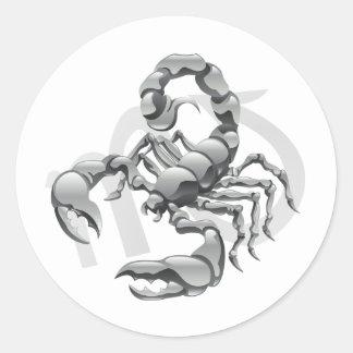 Skorpions-Aufkleber Runder Aufkleber