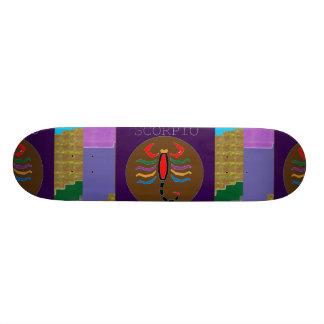 SKORPIONS-HAUSTIER-WILDE TIERKREIS Grafik durch 20,6 Cm Skateboard Deck