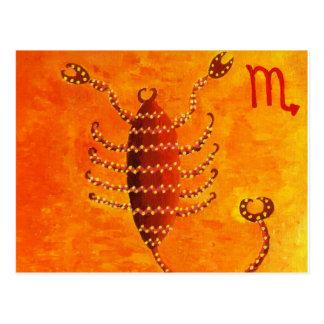 Skorpions-Horoskop-Tierkreis-Stern-Zeichen Postkarten