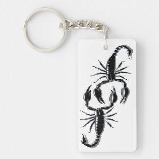 Skorpions-Kampf-Schlüsselkette Einseitiger Rechteckiger Acryl Schlüsselanhänger