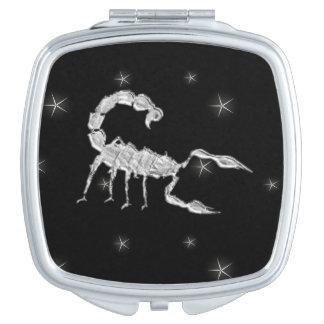 Skorpions-Skorpions-Tierkreis-Entwurfs-Schwarzes Taschenspiegel