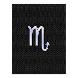 Skorpions-Tierkreischrom mag schwarze Postkarte